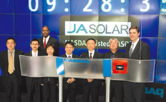 JA Solar was listed on the NASDAQ Exchange in the United States