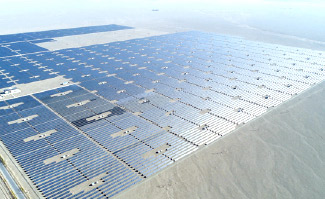 The construction work of 100MW power plant with modules supplied by JA Solar in Dunhuang, Gansu Province was completed